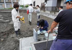 開発行為(埼玉県)完了検査の様子